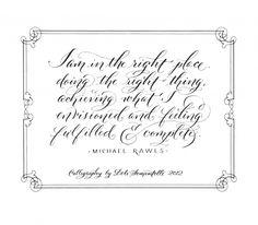Belluccia font by Lettering Artist, Debi Sementelli  Love the font for a tattoo