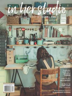 In Her Studio Premier Issue – Home Office Design For Women Design Room, Café Design, Art Studio Design, Paint Studio, Menu Design, House Design, Home Art Studios, Art Studio At Home, Art Studio Spaces