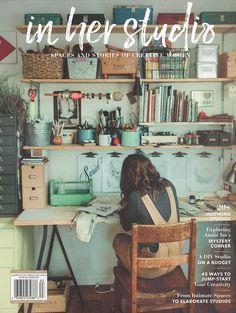 In Her Studio Premier Issue – Home Office Design For Women Design Room, Café Design, Art Studio Design, Paint Studio, Menu Design, House Design, Home Art Studios, Art Studio At Home, Restaurant Design