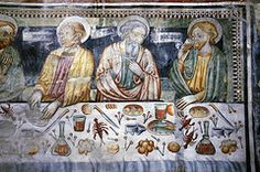 The Last Supper, San Bernardo a Monte Carasso, Tessin, CH Early Christian, Christian Art, Giovanni Bellini, Fra Angelico, Palm Sunday, Last Supper, Holy Week, Medieval Art, Blessed Mother
