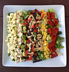 Santa Fe Chicken Salad- This looks delicious! Healthy Dishes, Healthy Salad Recipes, Food Dishes, Santa Fe Chicken Salad, Clean Eating, Healthy Eating, Main Dish Salads, Dinner Party Recipes, My Favorite Food