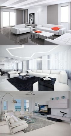 How to decorate a white living room - http://interiordesign4.com/how-to-decorate-white-living-room/