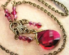 Raspberry Colored Necklace.