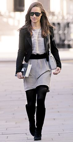 Pippa Middleton was spotted out and about in Chelsea, London carrying the Gatsby bag in Arctic grey, from British handbag brand Lamb. Nab your own on lamb1887.com for 307.