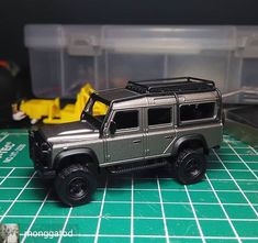 Reposted from - In progress. Custom Hot Wheels, Hot Wheels Cars, Custom Cars, Racing Car Design, Matchbox Cars, Diecast Model Cars, Roof Rack, Land Rover Defender, Big Trucks