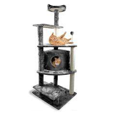 1 Piece Dark Grey 59 Cat Tree House Cat Tree Condo Cat Furniture