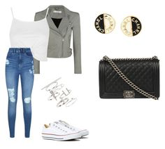 """Untitled #106"" by cariwhitman on Polyvore featuring IRO, Converse, Topshop, Lipsy and Chanel"