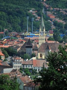 View from the top..my city, Medias, Sibiu.