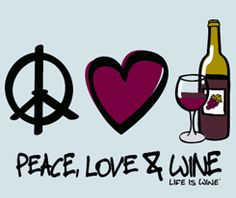 Peace Love & Wine Beverage Coasters by Wine is Life, Set of 12 Wine Meme, Wine Funnies, Traveling Vineyard, Wine Signs, Wine Guide, Wine Wednesday, Wine Art, Wine Quotes, Wine O Clock