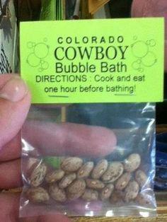 Cowboy Bubble Bath, LOL