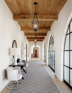 HGTV: This large home owes its beautiful Spanish Revival style to Hugh Jefferson Randolph Architects, whose design evokes the best of the historical style. Grey, white and wood Modern Spanish Decor, Spanish Home Decor, Spanish Interior, Home Modern, Spanish Style Homes, Modern Homes, Spanish Colonial, Spanish Style Kitchens, Spanish House Design