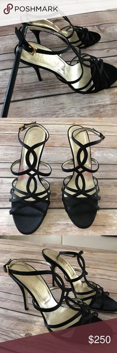 Valentino Garavani satin cage sandals Perfect condition Valentino size 35.5 made in Italy . Only 2 hours of used .like brand new . No dust bag no box available Valentino Garavani Shoes Sandals