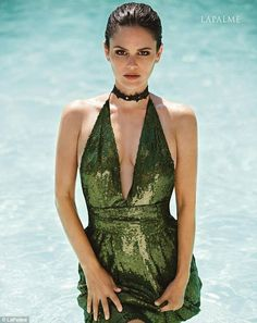 Making a splash: Rachel Bilson donned a green sequin dress with a plunging neckline in a photo shoot for the summer issue of LaPalme magazine, out now