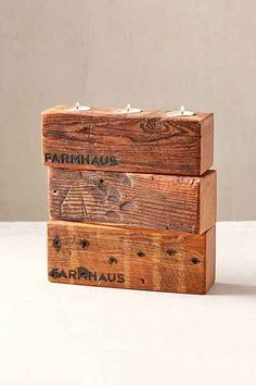 Farmhaus Firewood Triple Candle Holder - Urban Outfitters