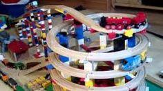 BRIO Eisenbahn und LEGO - BRIO Wooden Railway System and LEGO (HD) idea the world training craft craft diy craft for kids craft no sew craft to sale Lego Duplo, Toy Trains For Kids, Lego Trains, Ikea, Diy For Kids, Crafts For Kids, Train Table, Wooden Train, Train Layouts