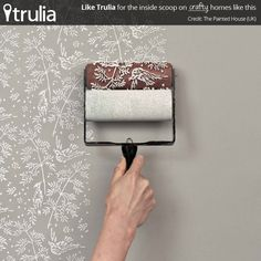 """Roll paint """"wall paper.""""  Though, I'd totally screw this up.  Wavy lines.  The paint wouldn't go on just right and then I'd stare at that screwed up part for the rest of my life...  This is cool if someone else does it maybe!!!  LOL!"""