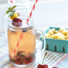 A refreshingly patriotic Champagne cocktail with fresh summertime berries. Perfect for a holiday weekend. #foodgawker