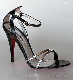 ItalianHeels.com: sandals: Marissa 1720 - 4 1/2'  stiletto Black Sandals