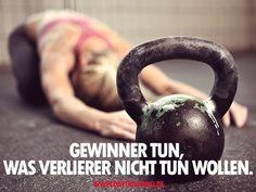 Gewinner tun, was Verlierer nicht tun wollen. #Daytraining #Fitness #Training #Abnehmen #Diaet #Motivation