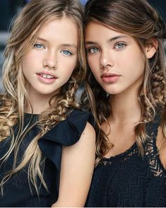 Laneya Grace & some other pretty girl, Laura Neimas. Laura is of Spanish/Polish ancestry. A well know model, of Saint Claire children's Fashions! Beautiful Little Girls, Beautiful Children, Beautiful Eyes, Beautiful People, Beautiful Women, Teen Models, Young Models, Child Models, Cute Young Girl