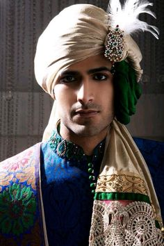 Awesome pagri design for a indian bride groom www. Blue Sherwani, Sherwani Groom, Wedding Sherwani, Punjabi Wedding, Turbans, Wedding Men, Farm Wedding, Wedding Couples, Boho Wedding