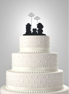 This cute Mario and Peach Silhouette Cake Topper is a unique way to showcase your cake on this special day. Images are found by me and redesigned in
