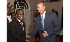 Before attending a reception hosted by the Governor General of Grenada, Harry met with the country's prime minster Keith Mitchell at the Spice Island Beach Resort.<br><br>Photo: PA