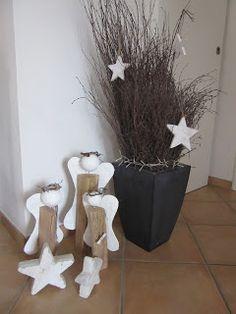 Weihnachtsengel, Engel, Engel aus Holz und Gips, PedisHandmade