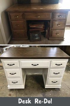 I Decided To Re-Do This Desk My Dad Made 13 Years Ago - This was a desk that my . I Decided To Re-Do This Desk My Dad Made 13 Years Ago - This was a desk that my dad built my sister years ago. She had given it to me 13 years ago. Moving Furniture, Diy Furniture Projects, Retro Furniture, Refurbished Furniture, Repurposed Furniture, Luxury Furniture, Furniture Nyc, Furniture Online, Cheap Furniture