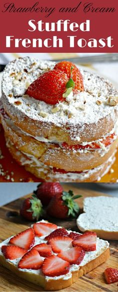 This strawberry and cream french toast is perfect for breakfast, brunch, lunch or dinner and is great for special occasions. It is easy to make and so delicious!