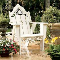 Victorian adirondack chair