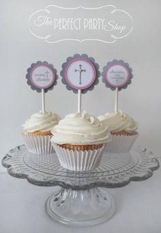 cupcakes para 1era comunión
