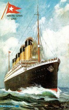 via Paragon: RMS TSS Titanic Passenger Ship White Star Line Liverpool England Passenger Service Vintage Poster. The Titanic story is legendary. The Titanic facts are simple. Rms Titanic, Titanic History, Titanic Ship, Titanic Art, Titanic Poster, Titanic Wreck, Belfast, Southampton, Advertising Poster