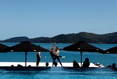 Morning barre class.The Australian Ballet performs at #qualia. #hamiltonisland