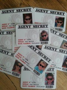 Anniversaire agent secret - Carte professionnelle pour accéder au site !