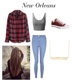 """""""New Orleans"""" by samanthastyle-cdxxi ❤ liked on Polyvore featuring Madewell, Doublju, New Look, Converse and Jennifer Meyer Jewelry"""