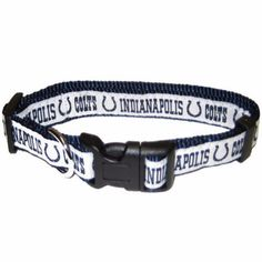 """-""""Indianapolis Colts NFL Dog Collars"""" - BD Luxe Dogs & Supplies"""