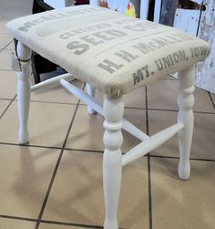 VERY cute; would try to age the legs a little for the rustic look....   Shabby Love: Crazy for Benches and Stools!