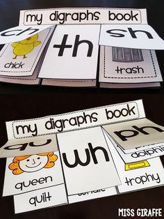 Digraphs books that are super fun to make as digraph word sort activities