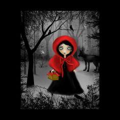 Art  Digital Painting  Fairytale Art Print  Dark  by RusticGoth, $20.00