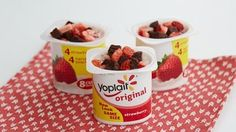 Double Berry Brownie Yogur Cup | @yoplait