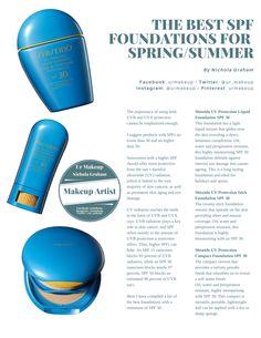 The Best SPF Foundations for Spring / Summer!  Page 1 of 2  #SPF #Foundation #SpringSummer2016 #urmakeup