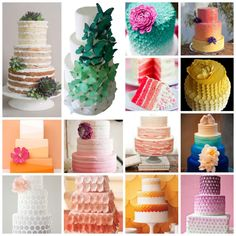 ombre wedding cake inspiration board - honey willow