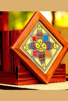 Madhubani coasters from UnravelIndia.in