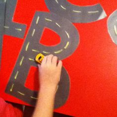 Alphabet letter roads to prepare for writing.