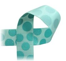 Sugar Dots - printed ribbon, dotted, glitter TRR