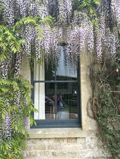 Windows in farrow and ball downpipe - huge transformation and sets off my wisteria Farrow And Ball Paint, Farrow Ball, Sash Windows, Windows And Doors, Exterior Colors, Exterior Paint, Front Door Colors, Front Doors, London House