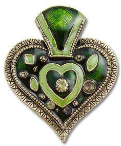 Heart of emerald green