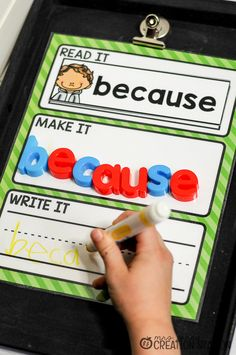 This Editable Sight Word Magnetic Letter Center is perfect for progress monitoring and sight word assessments for Kindergarten classrooms.