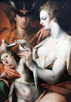 Bartholomeus Spranger Venus Mercury and Cupid 1597